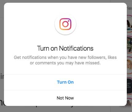 All about the Notifications of the Instagram app