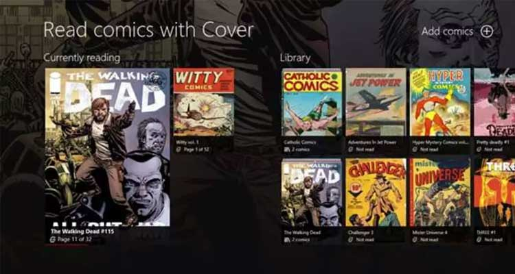 Cover - Comic reader