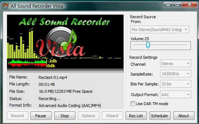 All Sound Recorder Vista